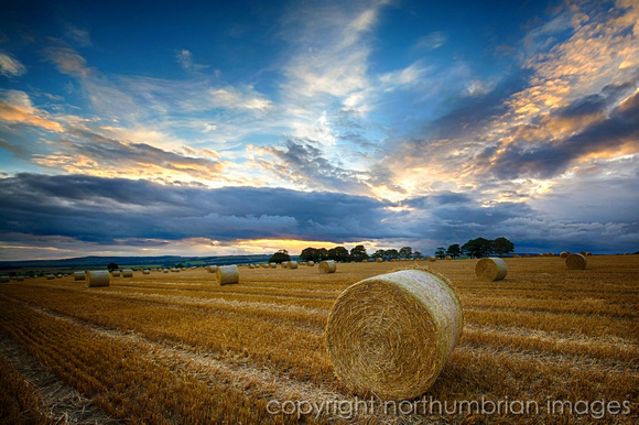 "field, hay, ""long exposure"", northumberland, ""northumbrian images"", sky, sunset"