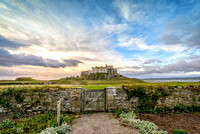 Lindisfarne castle from the walled garden